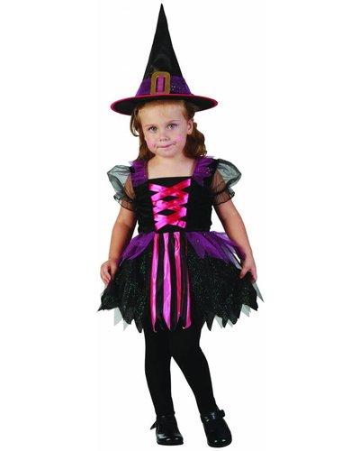 Magicoo Heksenjurk roze-zwart-lila