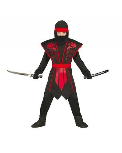 Magicoo Rood Ninja kostuum kind