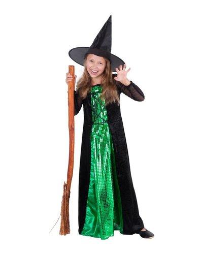 Magicoo Heksen kostuum Deluxe voor meisjes groen