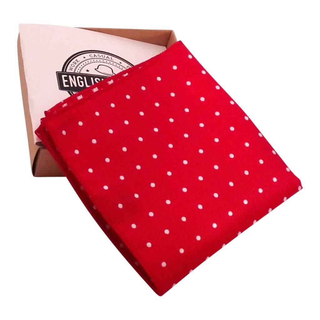 Red Polkadot Pocketsquare