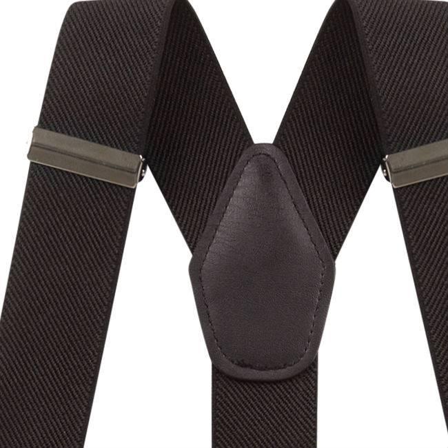 Bretels met lussen & knopen Zwart