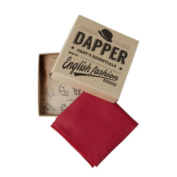 Dark red Satin Hanky in het