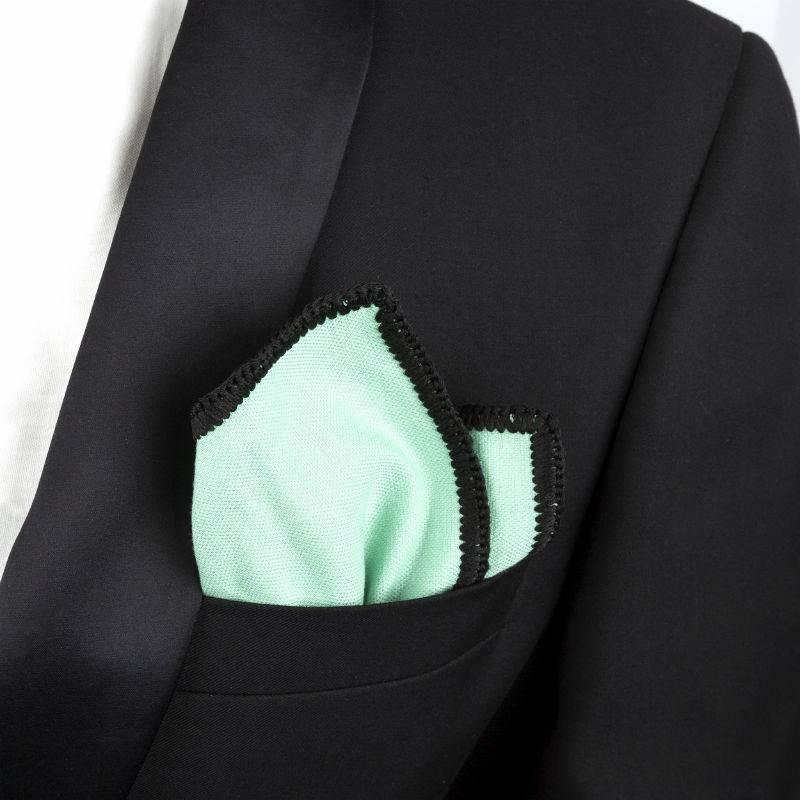 Wool Pocket Square Pastel Green