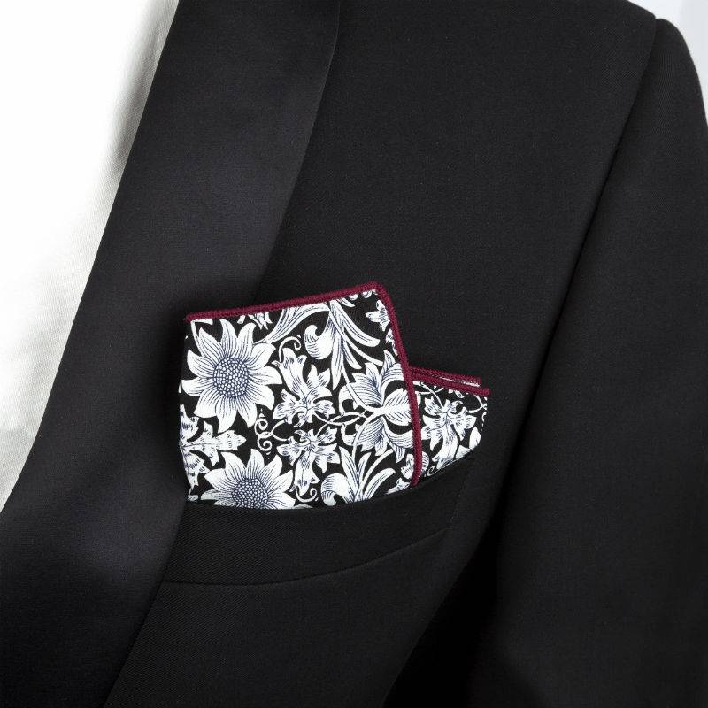 Smart Casual Floral Handkerchief