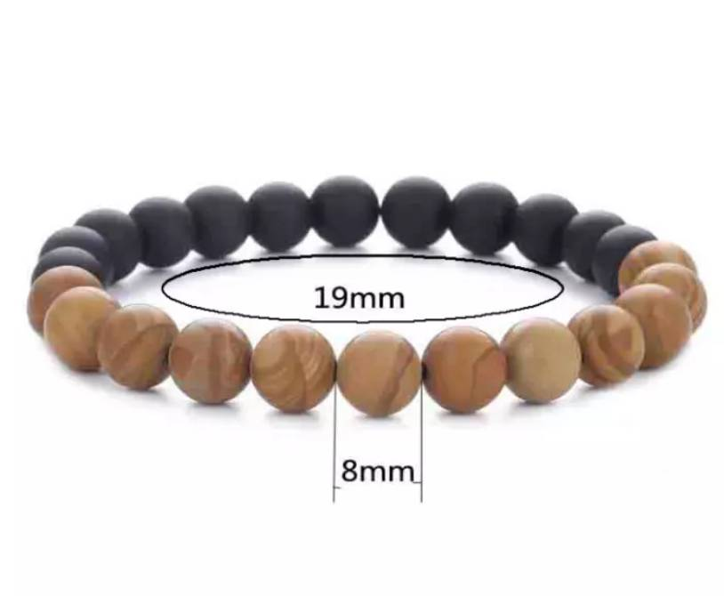 African Style Bracelet with wooden beads