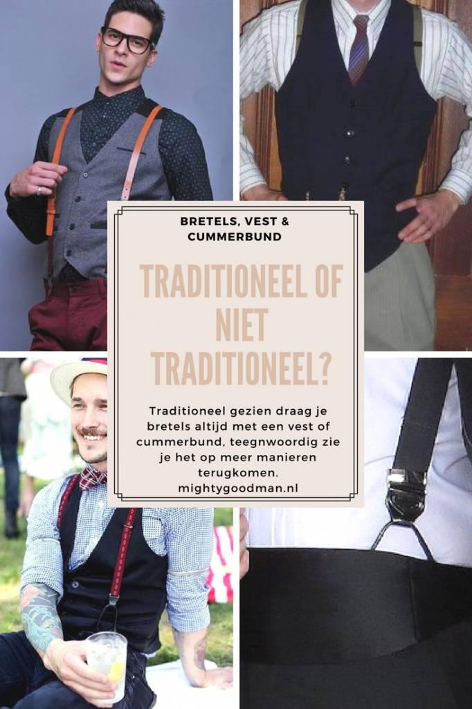 Kun je bretels samen dragen met een gilet of cummerbund?