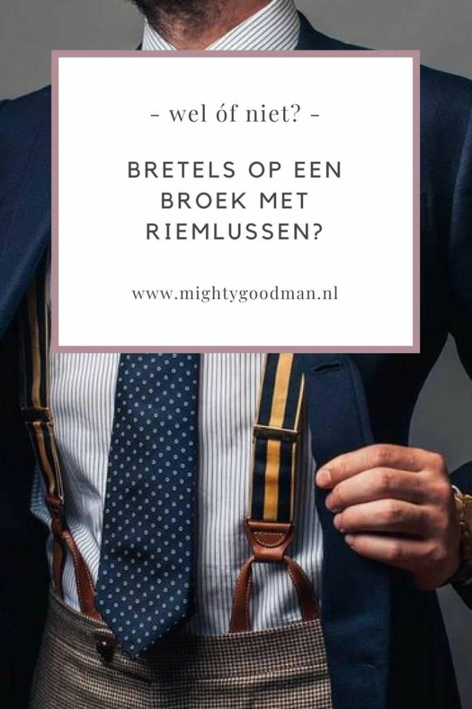 Kun je bretels dragen met een broek die riemlussen heeft?