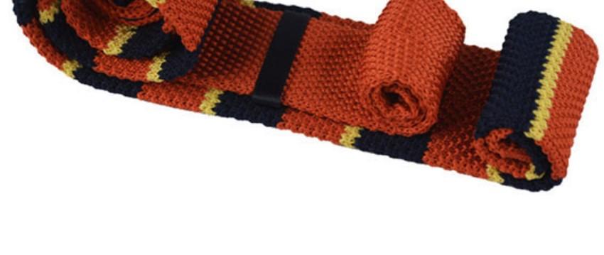 Orange knitted tie