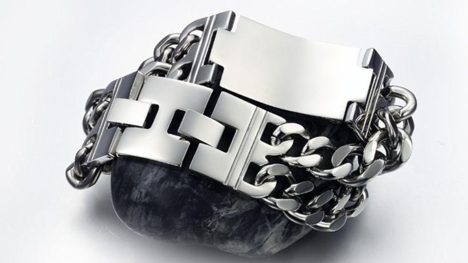 Stainless Steel Chain Link Cross Bracelet