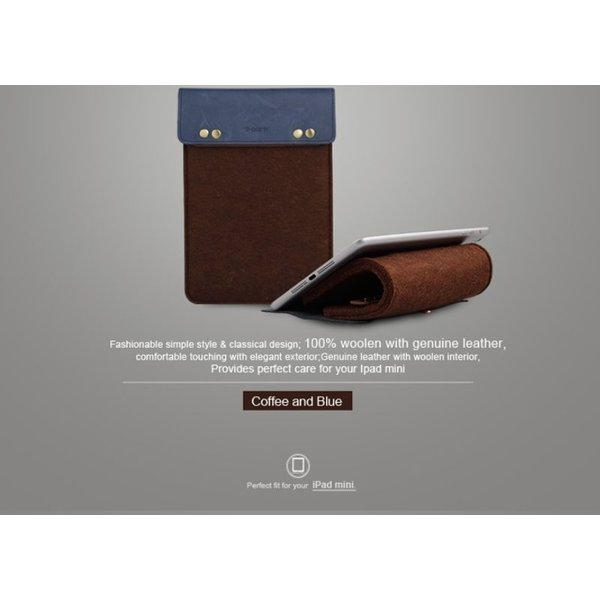Wool Felt Sleeve iPad Mini hoes (8 inch Tablet) in het
