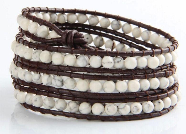 Wrap bracelet white Turquoise