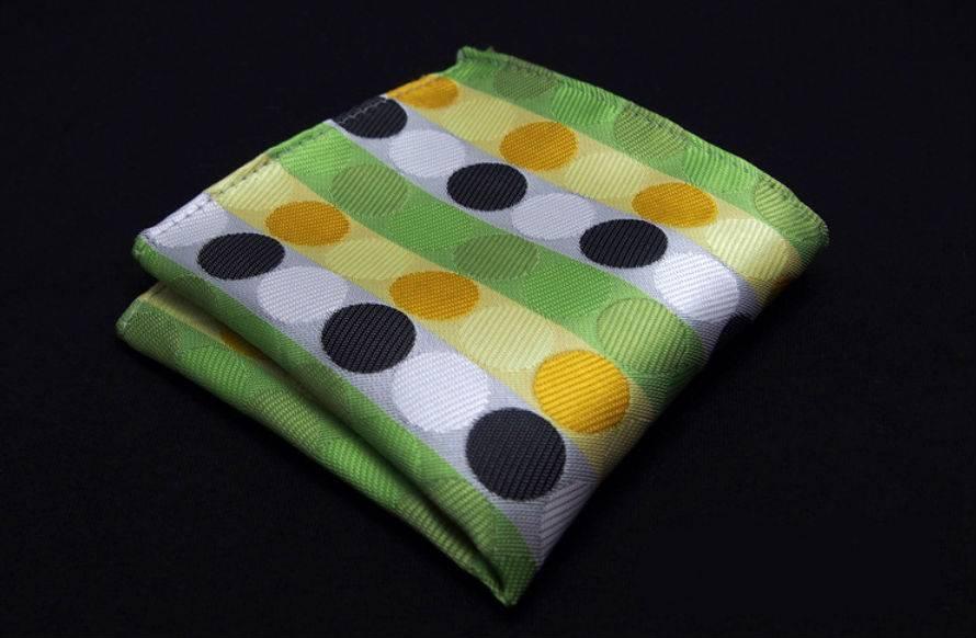 Pochet Groen met Dots