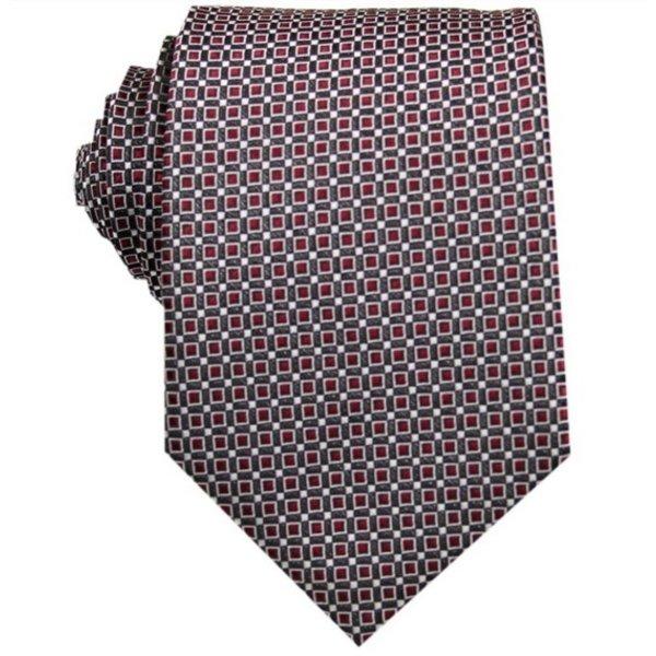 Silk Tie Dark red checkered in het