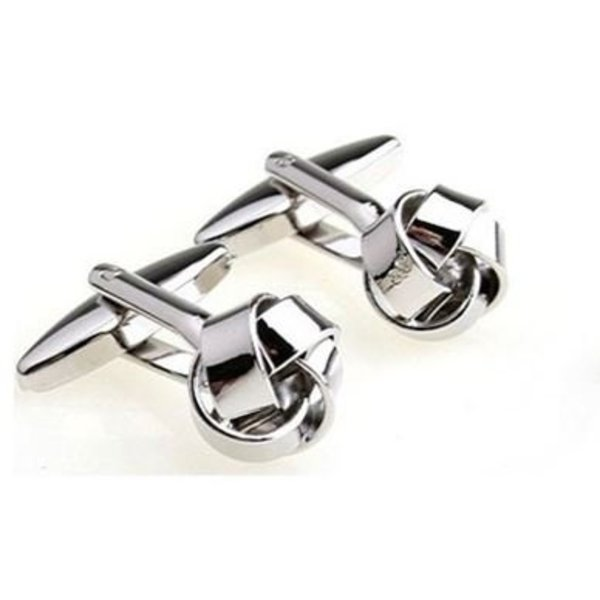Stainless Steel Manchetknopen Knoop in het