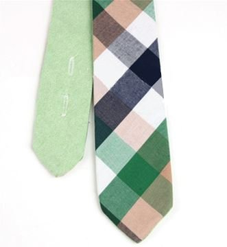 Frisse Groene Katoenen Stropdas