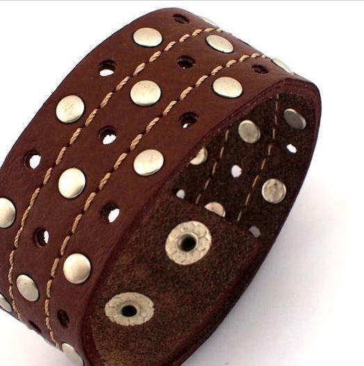 Wide Leather bracelet - Man