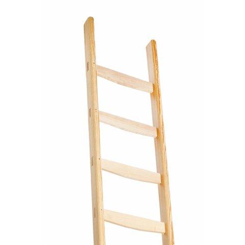Enkele houten ladder (vaste ladder)
