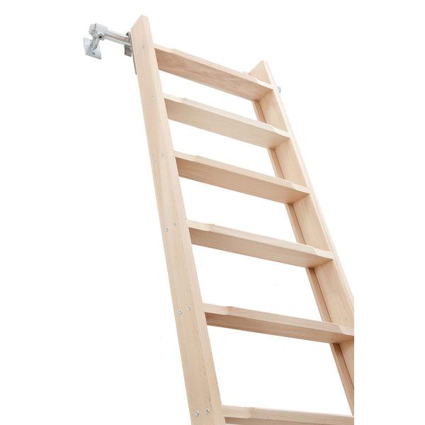 Solid Wood Beukenhouten steektrap (hoogslaper-, bibliotheektrap)