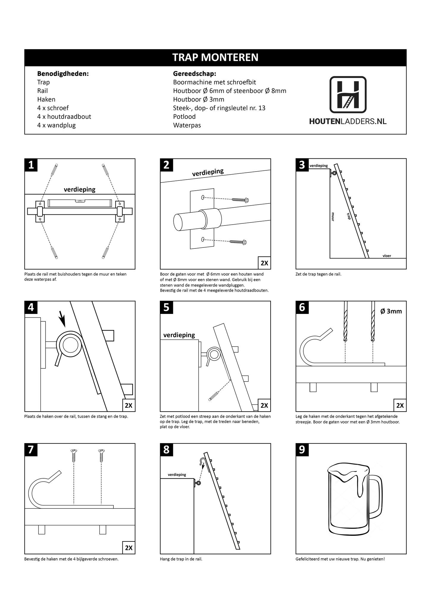 Montagehandleiding zoldertrap
