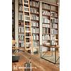 Houten boekenkastladder