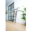 Houten decoratie ladder zwart eiken