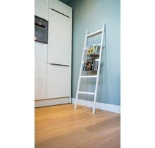 Houten decoratie ladder wit eiken