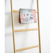 Houten decoratie ladder nature eiken