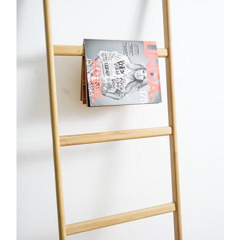 Decoratie ladder nature eiken