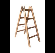 Ergonomische dubbel trap met 2 dwarse bovenste sporten