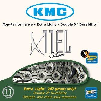 KMC X11EL ketting goud/zilver