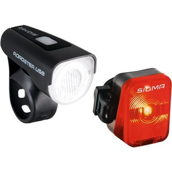 Sigma Roadster + Nugget fietsverlichting