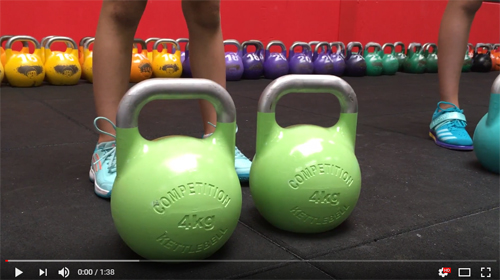 Demo video 4kg en 6kg competition kettlebell