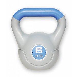 Kunststof aerobic kettlebell 6 kg paars