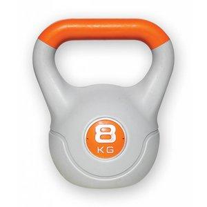 Kunststof aerobic kettlebell 8 kg oranje