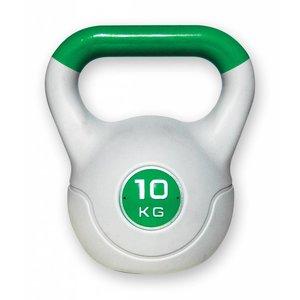 Kunststof aerobic kettlebell 10 kg groen