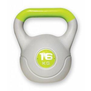 Kunststof aerobic kettlebell 16 kg groen
