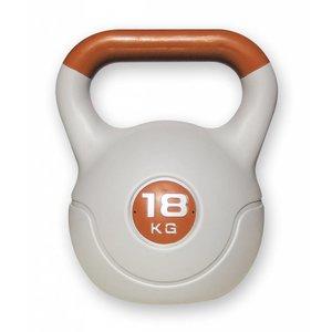 Kunststof aerobic kettlebell 18 kg bruin