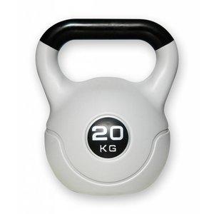 Kunststof aerobic kettlebell 20 kg zwart