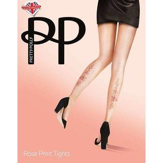 Pretty Polly  Pretty Polly  Rose Tattoo Print Tights