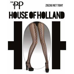 House of Holland Zig Zag Net Tights