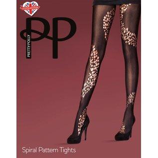 Pretty Polly Spiral Pattern panty