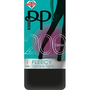 Pretty Polly 200D. Fleecy opaque thermo-panty