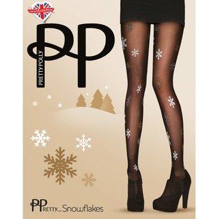 Pretty Polly PPretty..Snowflakes kerst panty