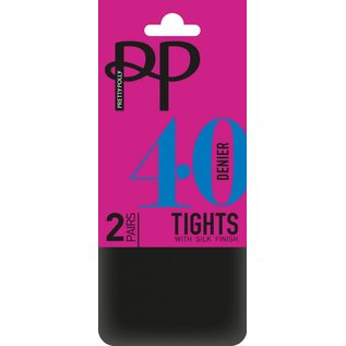 Pretty Polly 40 Denier  Opaque Tights's in 2 pair pack