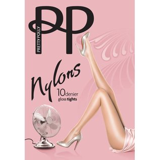 "Pretty Polly 10D. ""Nylons"" glans panty"