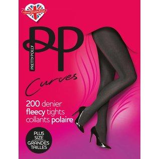 """Pretty Polly Pretty Polly """"Curves"""" 200D. Fleecy Tights"""