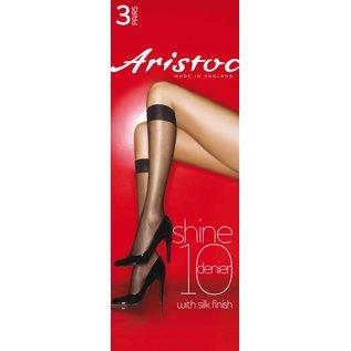 Aristoc 3pp 10 Denier Shine Kneehighs with silk finish