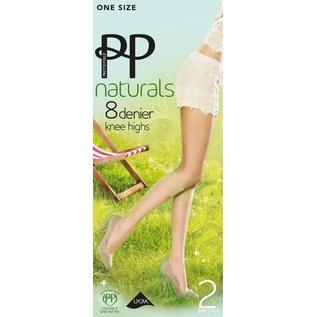 """Pretty Polly 8D. """"Naturals"""" summer Kneehighs (2 pair)"""