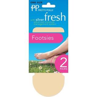 Pretty Polly Pretty Polly  Cotton Footsies Natural (2 pair)