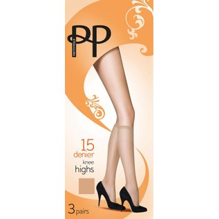 Pretty Polly 15D. Everyday Kneehighs (3 pair)